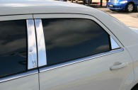 Chrysler 300 with chrome pillar post trim installed