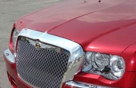Chrysler 300C with chrome grille mustache