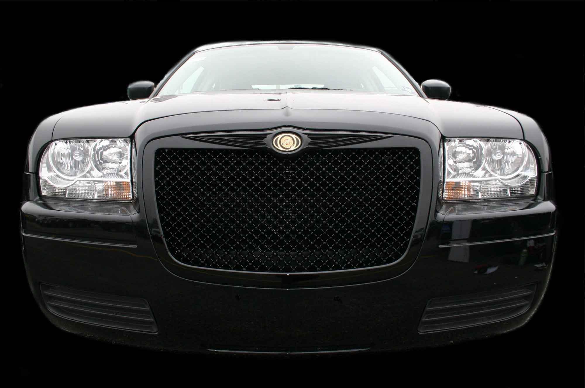 Chrysler Black Chrome Bentley Mesh Grille Grill Trim Molding