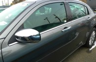 2012 Chrysler 200 with chrome door handle covers and chrome mirror covers installed