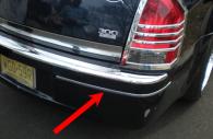 Chrysler 300 rear bumper trim molding