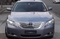 toyota camry with chrome grille installed