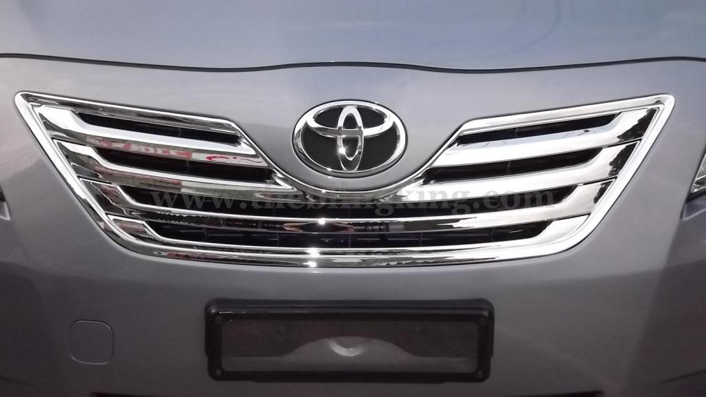 toyota camry chrome grille insert overlay trim. Black Bedroom Furniture Sets. Home Design Ideas