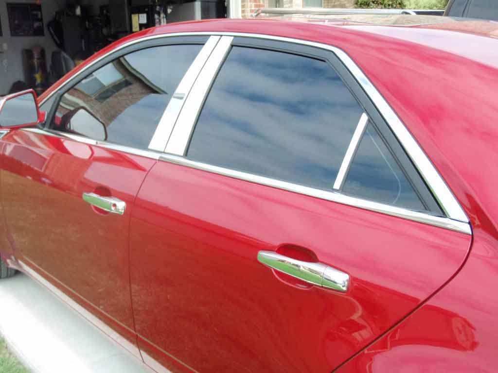CHROME Pillar Posts for Cadillac CTS 02-07 6pc Set Door Cover Mirrored Trim