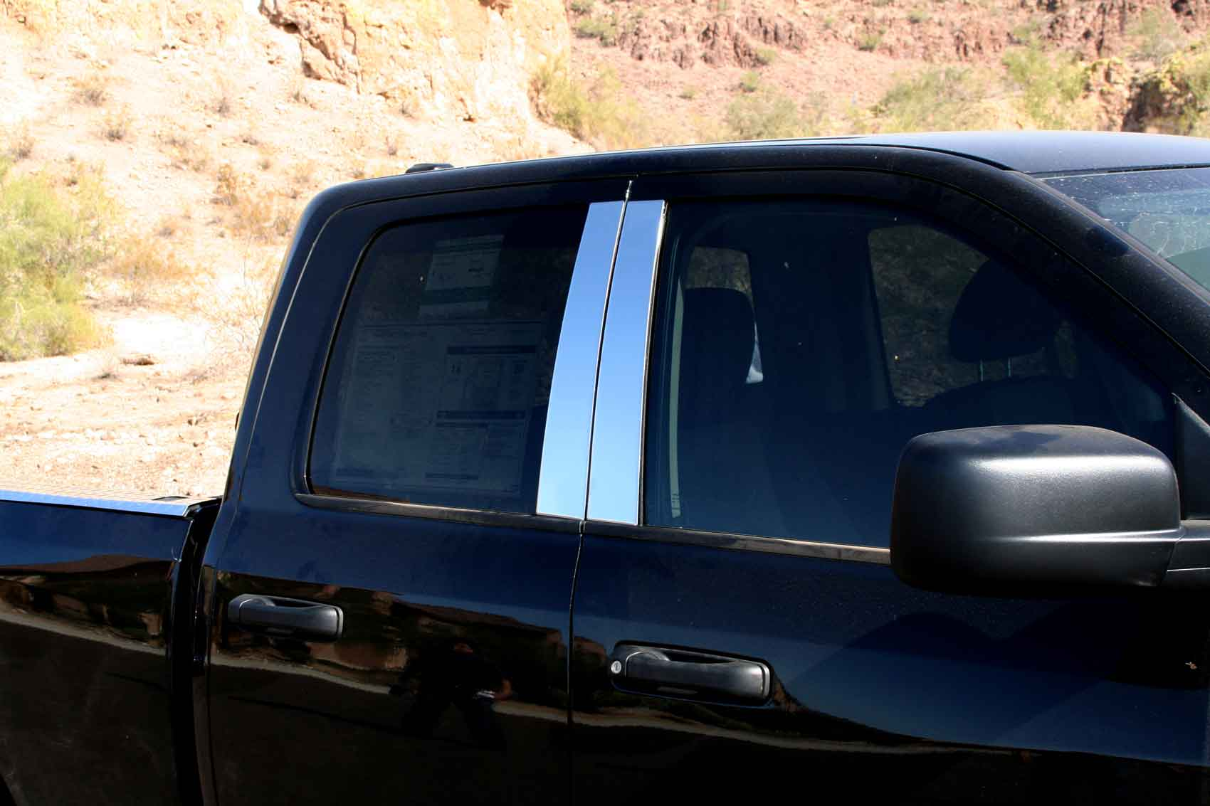 2002 2008 Dodge Ram Chrome Pillar Post Trim