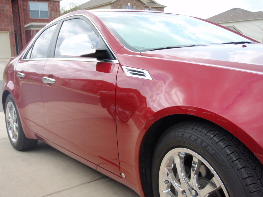 Cadillac cts chrome door handle mirror cover trim package - Exterior car door handle repair cost ...
