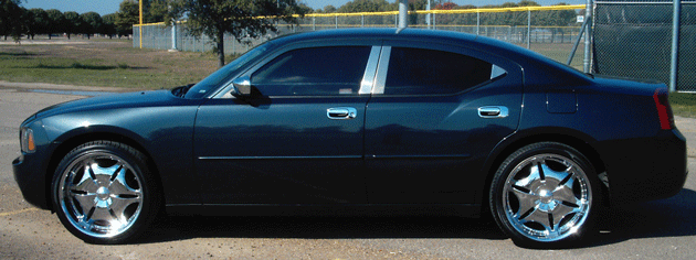 Dodge Charger Chrome Pillar Post Trim