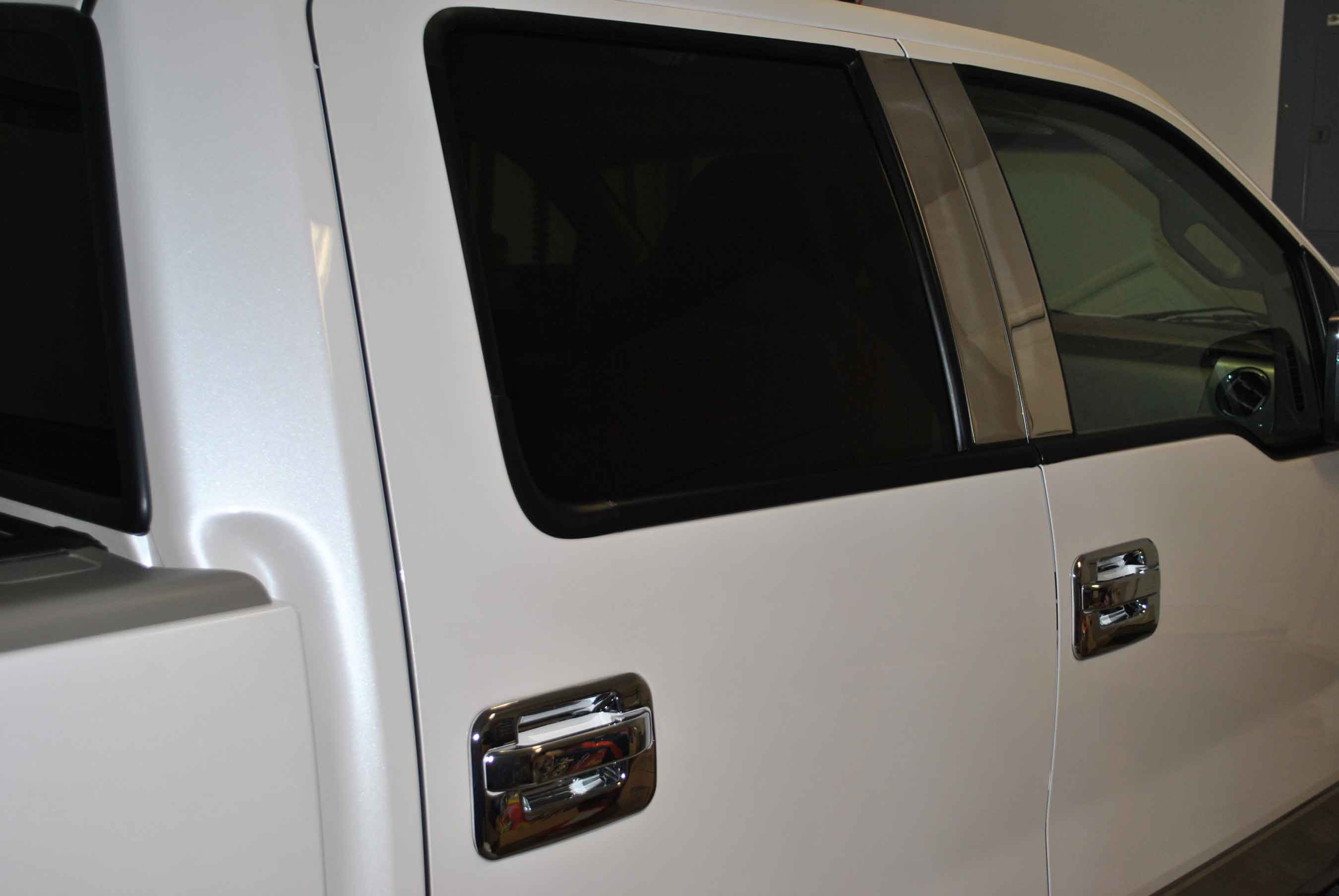 Ford F  Chrome Pillar Post Trim Pc Super Crew