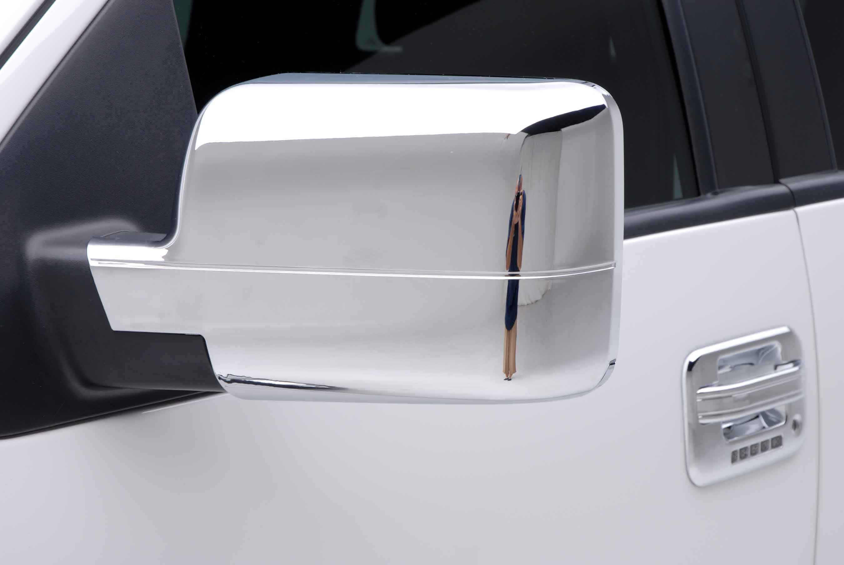 Ford F Chrome Mirror Close Up