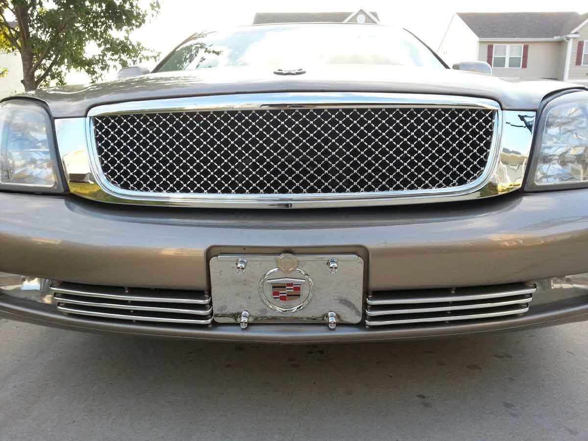 Cadillac Deville Chrome Bentley Mesh Grille Full