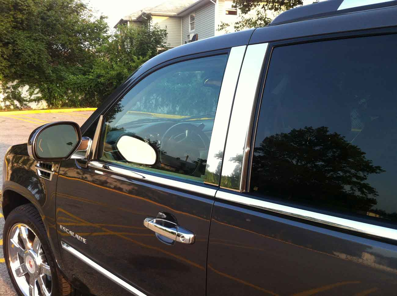 Cadillac Escalade Chrome Pillar Post Trim 2007 2014