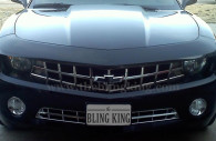 chevy camaro with chrome running light bezels