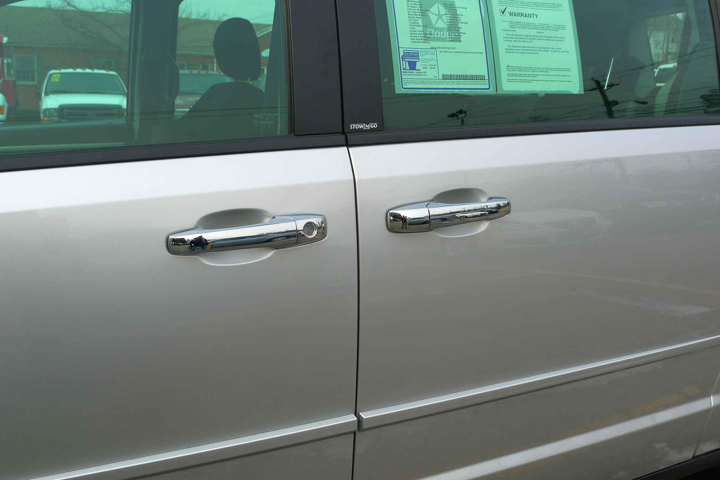 ... dodge caravan chrome door handle cover trim & Dodge Grand Caravan Chrome Door Handle / Mirror Cover Trim Package