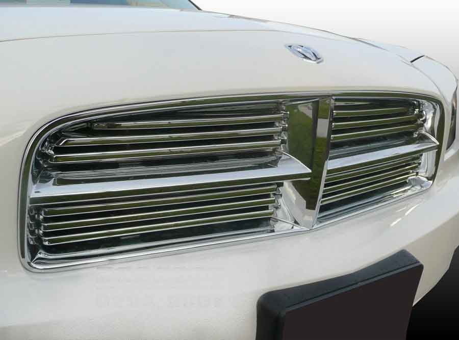 Dodge Charger Chrome Grille Insert Overlay Trim 4 Piece