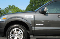 Ford Explorer with chrome fender vents installed