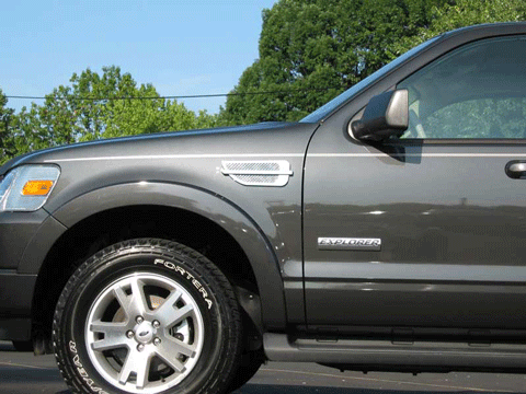 Ford Explorer Chrome Fender Vent Port Hole Trim