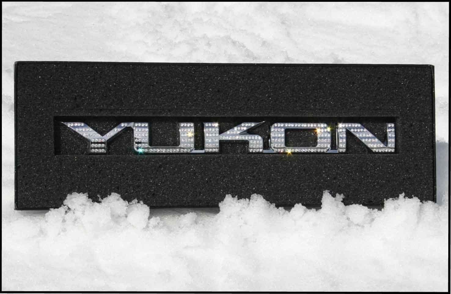 Iced Out Emz Chrome Gmc Yukon Swarovski Emblem Badge
