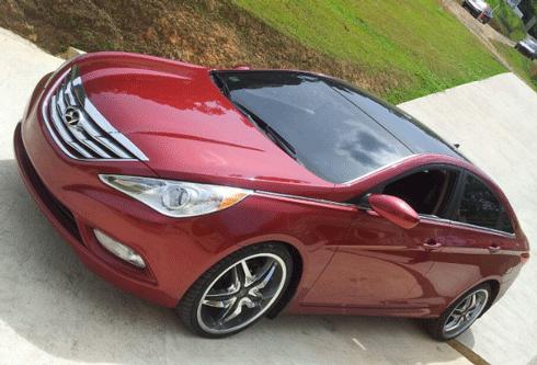 2011 2013 Hyundai Sonata Chrome Grille Insert Overlay Trim