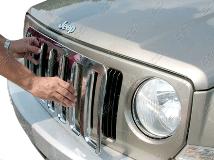 Jeep Patriot Chrome Grille Insert Overlay Trim