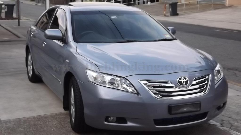 Toyota Camry Chrome Grille Insert Overlay Trim