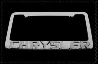 chrysler 300 chrome license plate frame with iced out emblems