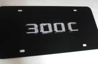 chrysler 300C black license plate with iced out emblem