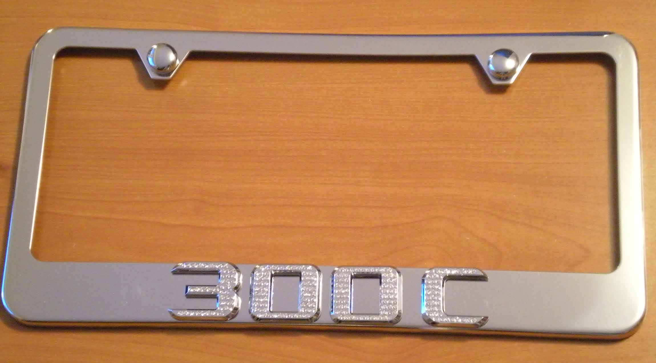 Chrysler 300c license plate holders