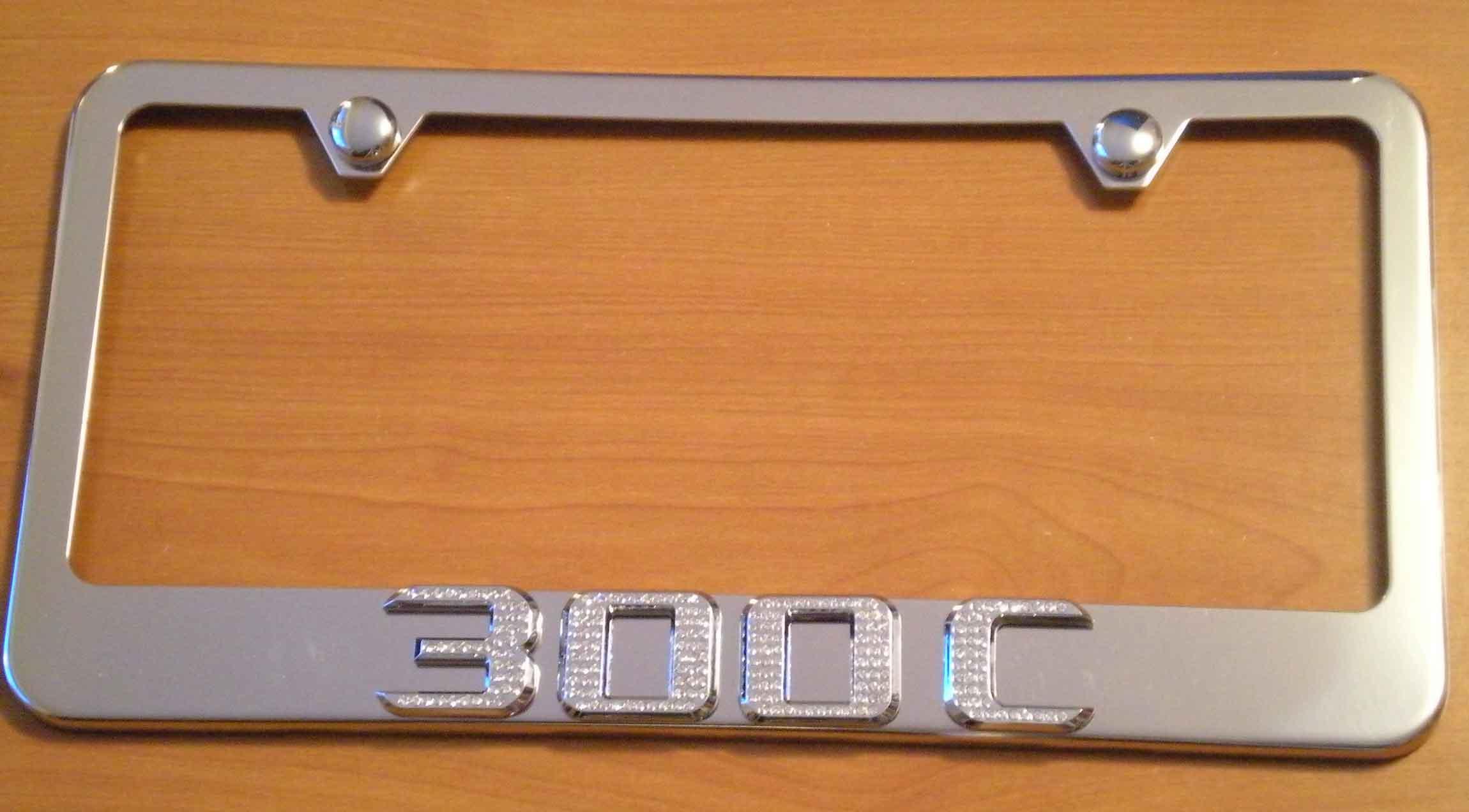 Chrysler 300C Chrome License Plate Frame w/ Iced Out Emz Swarovski ...