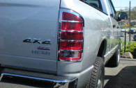 dodge ram chrome tail light bezels