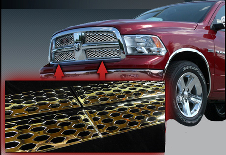 2012 Dodge Charger For Sale >> Dodge Ram Chrome Grille Insert Overlay Trim (2009-2012)
