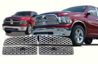 dodge ram chrome mesh grille insert trim