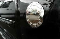chevy silverado chrome fuel door cover trim
