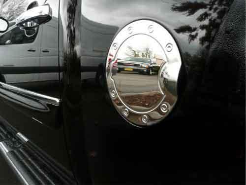 Chevy Silverado Chrome Fuel Door Gas Cap Cover Petro Trim