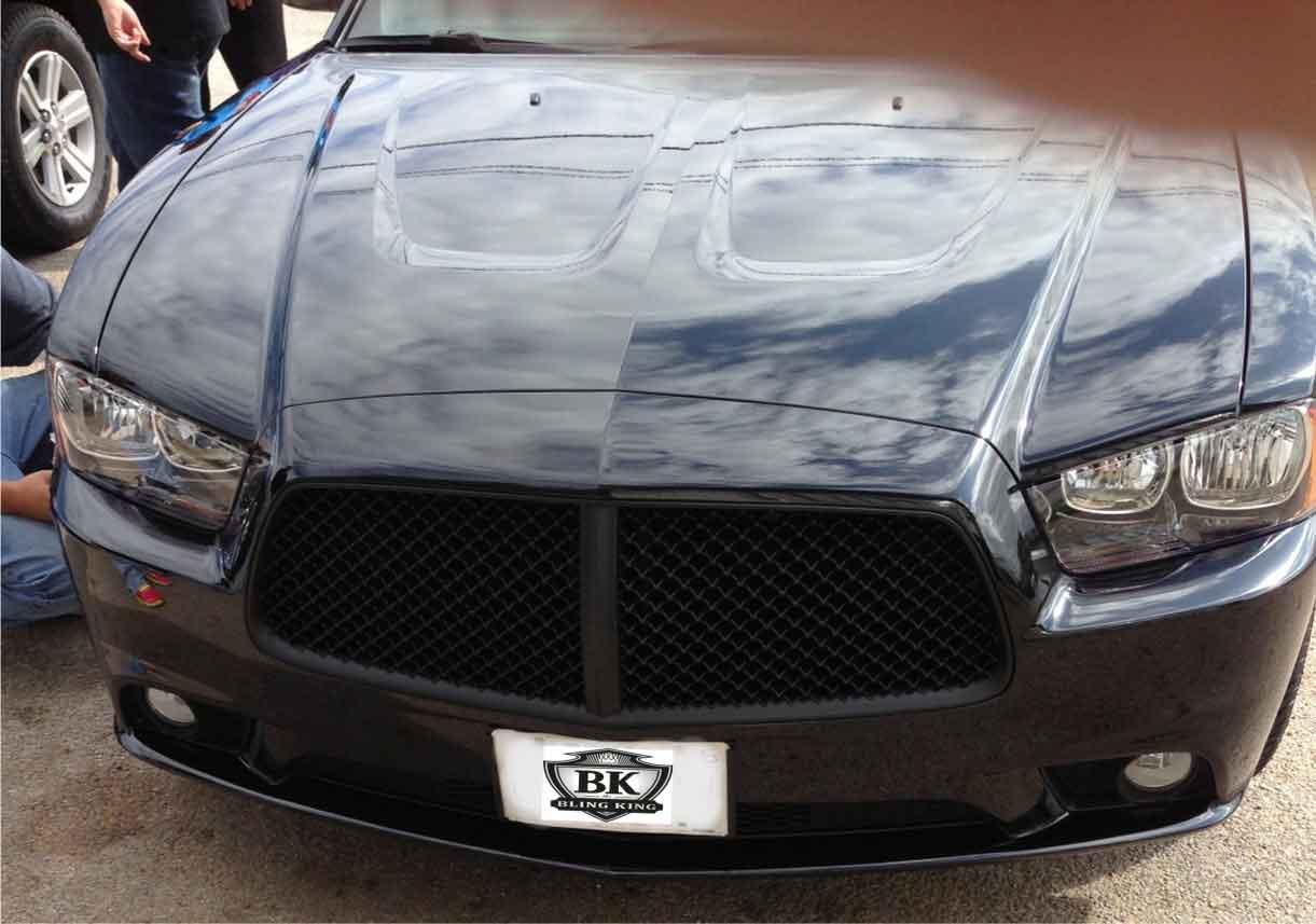 Dodge Charger Chrome Bentley Black Mesh Grille 2011 2014
