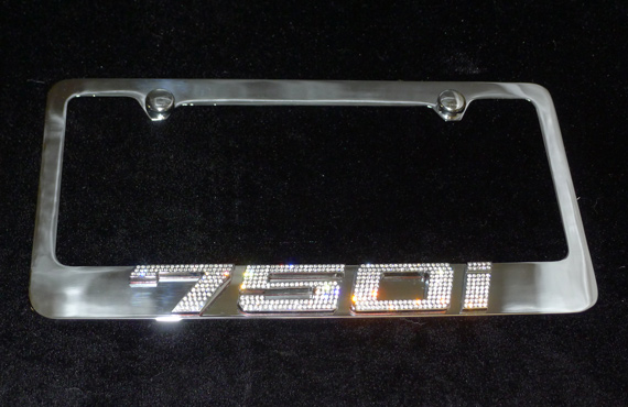 home license plates bmw 750i chrome license plate frame w. Cars Review. Best American Auto & Cars Review