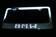 BMW chrome license plate frame