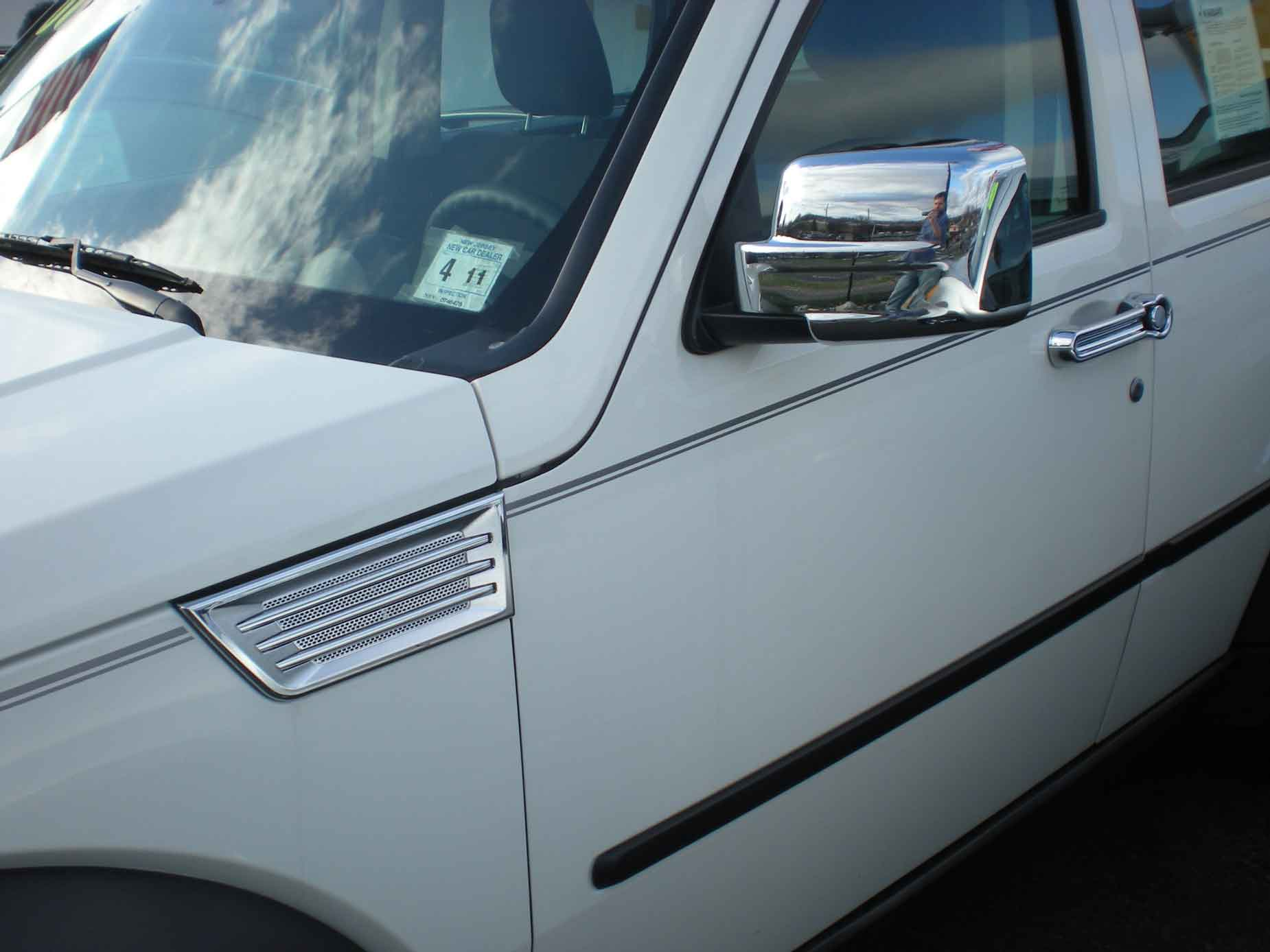 Dodge Nitro Chrome Door Handle Mirror Cover Trim Package