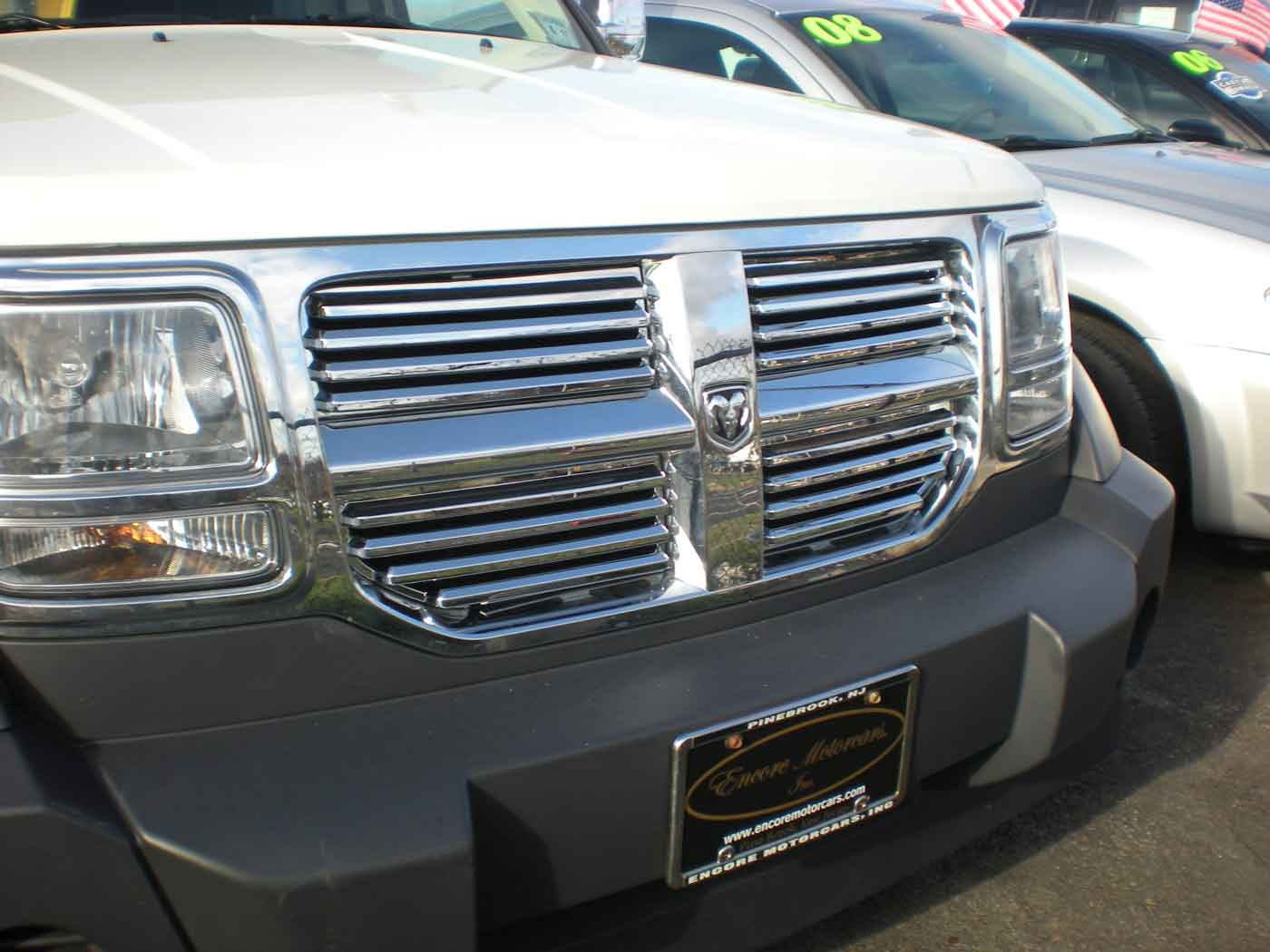 dodge nitro chrome horizontal grille insert trim