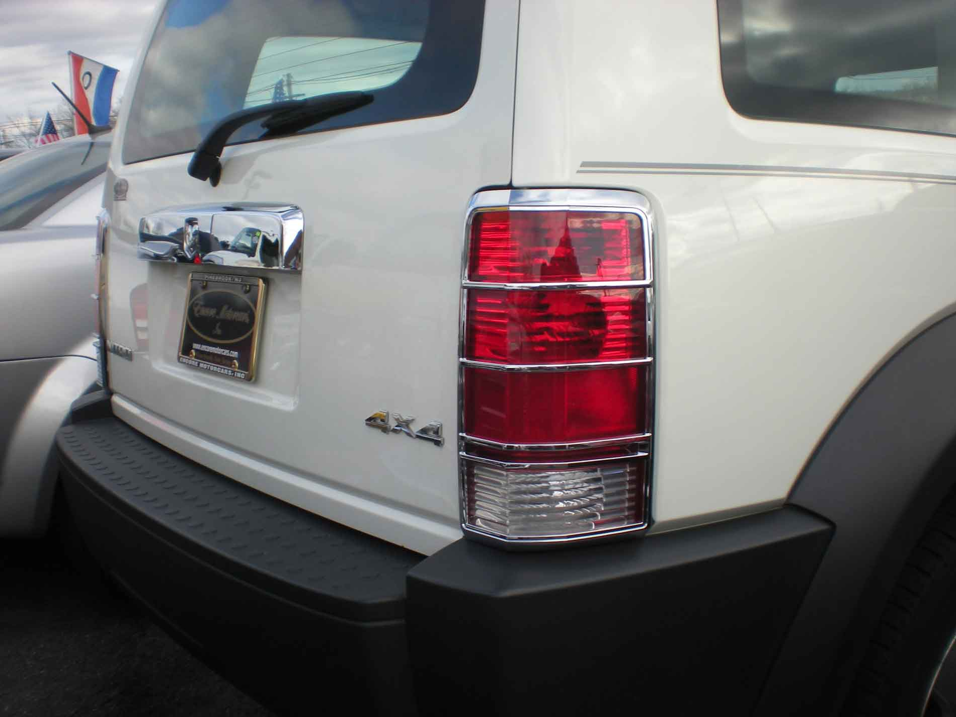 Dodge Nitro Chrome Tail Light Bezel Trim Covers
