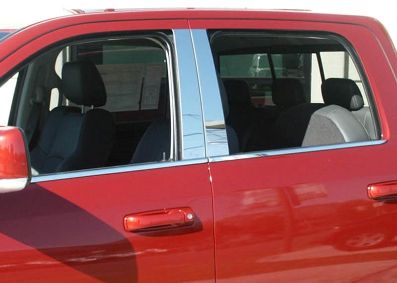 09 2016 Dodge Ram Chrome Pillar Post Trim Crew Quad Cab