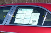 Ford Fusion chrome pillar post trim