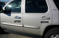 chevy tahoe with chrome door handle covers
