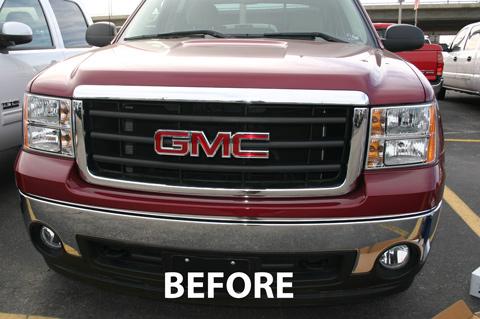 Gmc Sierra Chrome Grille Insert Overlay Trim