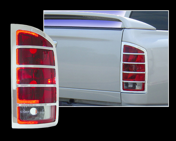 Dodge Ram Chrome Tail Light Bezel Trim Covers
