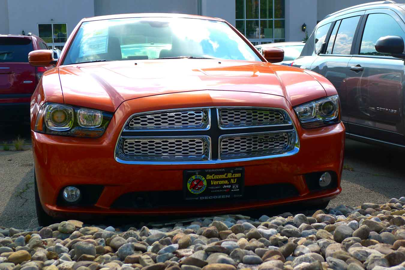 2012 dodge charger with chrome mesh grille