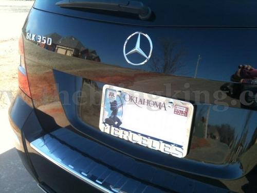 chrome mercedes benz iced out license plate frame