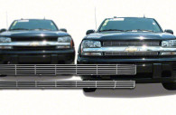 chevy trailblazer chrome horizontal grille insert trim