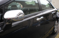 honda civic chrome mirror and door handle cover trim