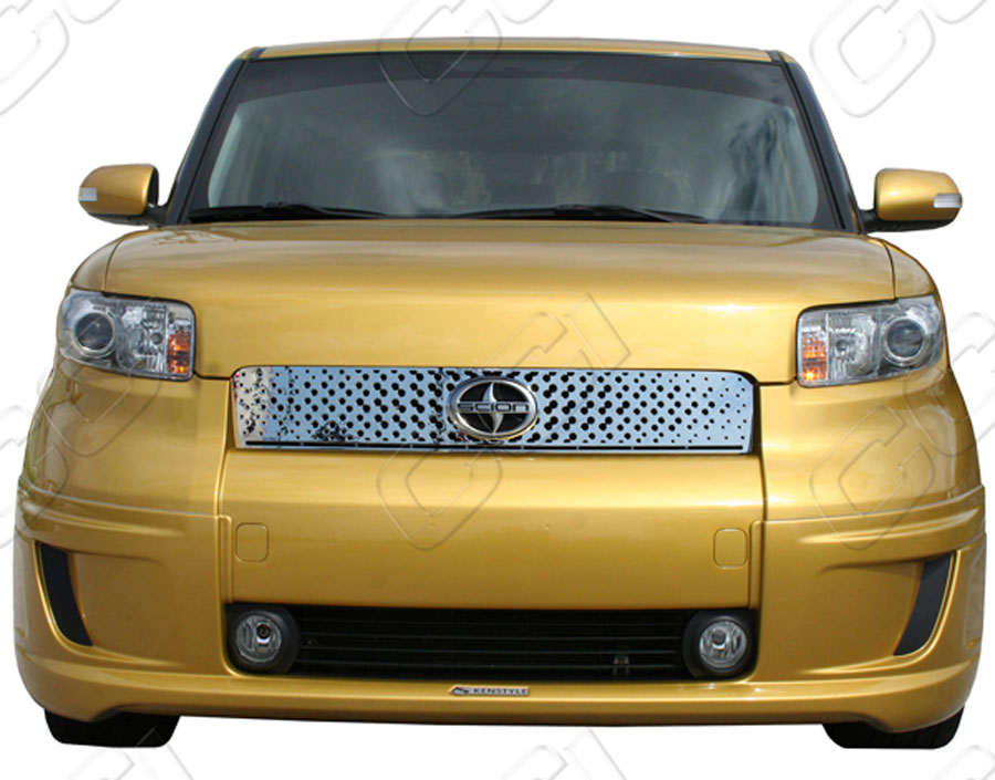 scion xb chrome grille insert overlay trim. Black Bedroom Furniture Sets. Home Design Ideas