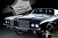 1970 olds cutlass chrome mesh grille